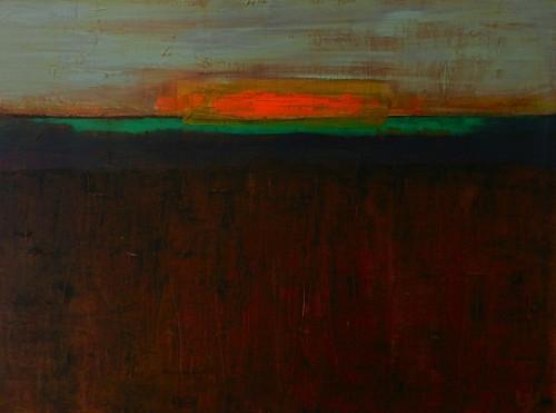 """""""Earth and sky"""" Acrylic 50x70cm"""